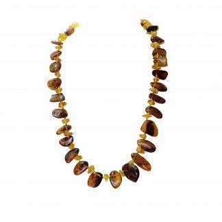 Jantárový náhrdelník z jantárových nugetov