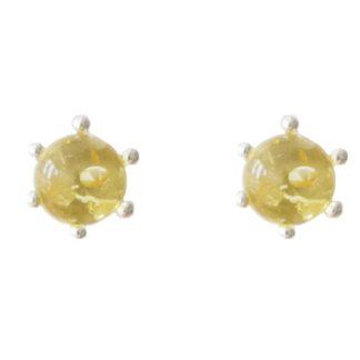 Jantárové náušnice Korunka žlté