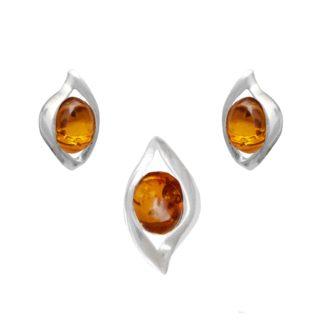 Set jantárových šperkov Honos koňakový