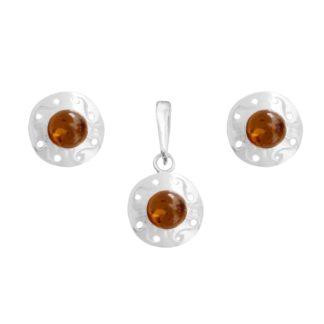 Set jantárových šperkov Orient koňakový