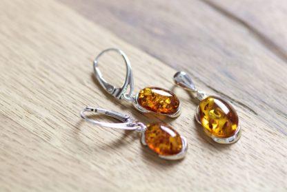 Set jantárových šperkov Noblesa koňakový