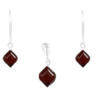 Set jantárových šperkov Rafinovaná višňový