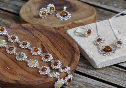 Jantárové šperky zo striebra s pravým baltickým jantárom